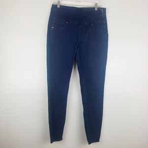 Spanx Alexia Jeans Stretch Side Zip Jeggings Blue